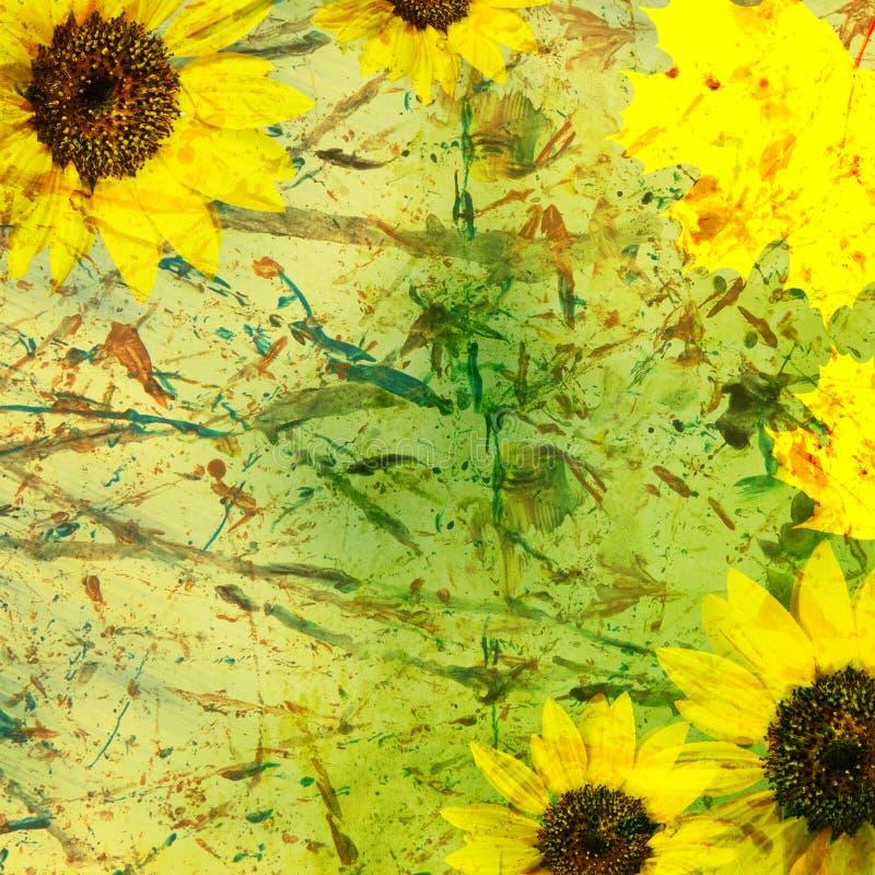 Herbsthintergrund mit Blumen vektor abbildung