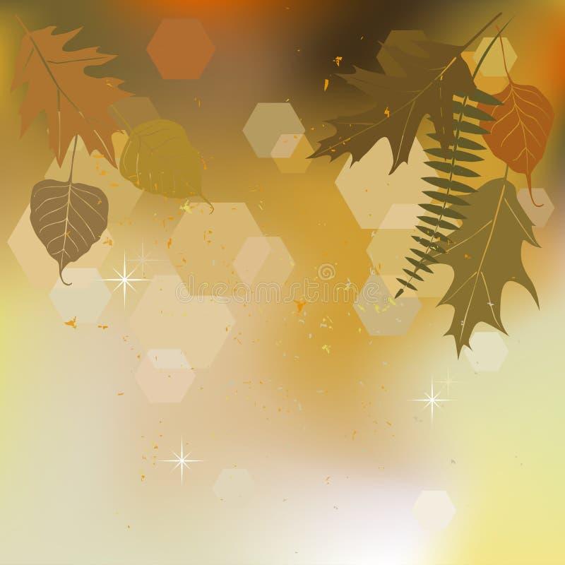 Herbsthintergrund mit einem Raum für einen Text lizenzfreie abbildung