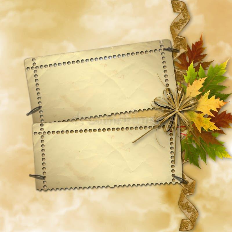 Herbsthintergrund mit Laub vektor abbildung
