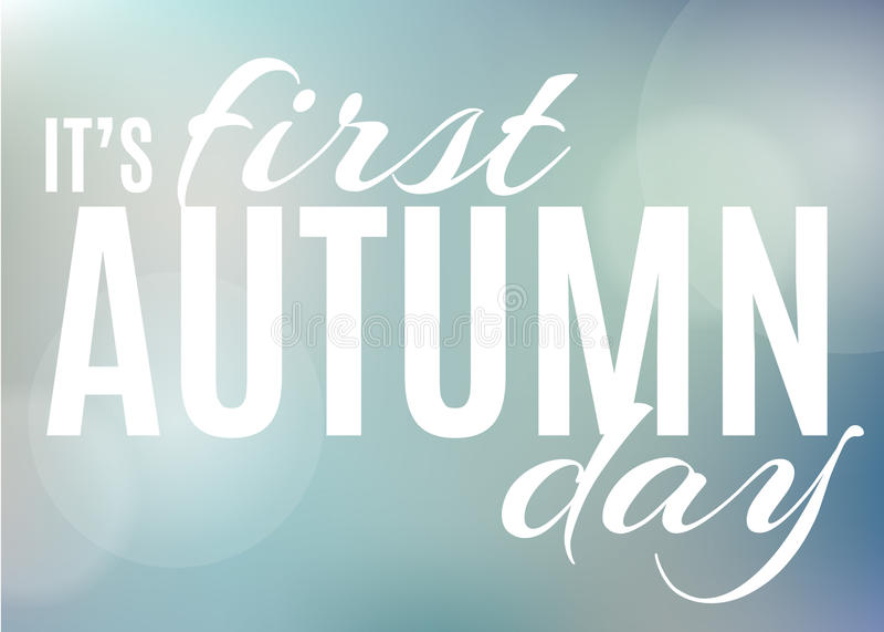 Herbsthintergrund mit Text lizenzfreie abbildung