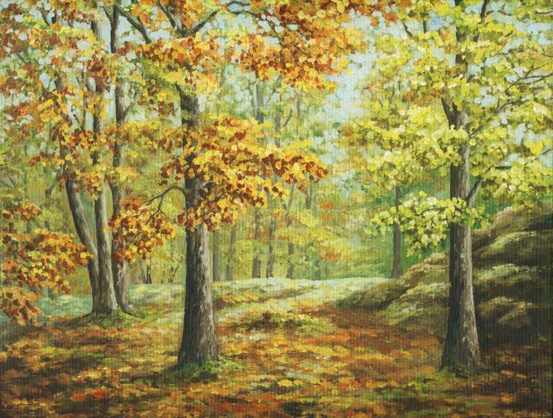 Herbstholz lizenzfreie abbildung