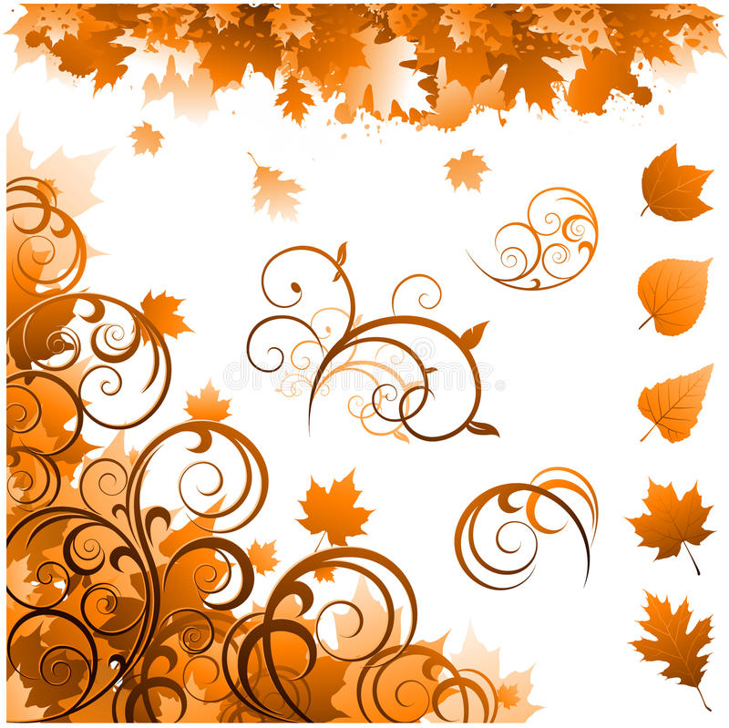 Herbstjahreszeitverzierungen vektor abbildung