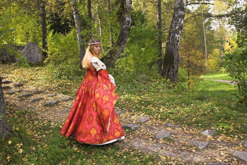 Herbstkönigin stockfoto