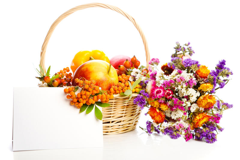 Herbstkarte lizenzfreies stockfoto