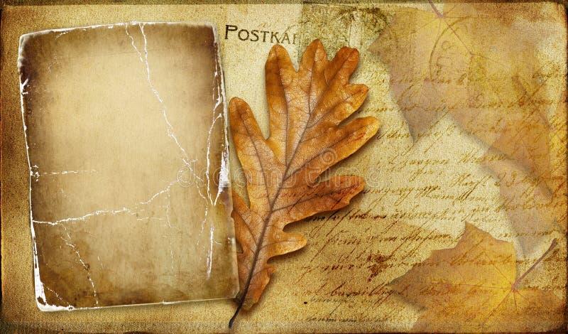Herbstkarte vektor abbildung