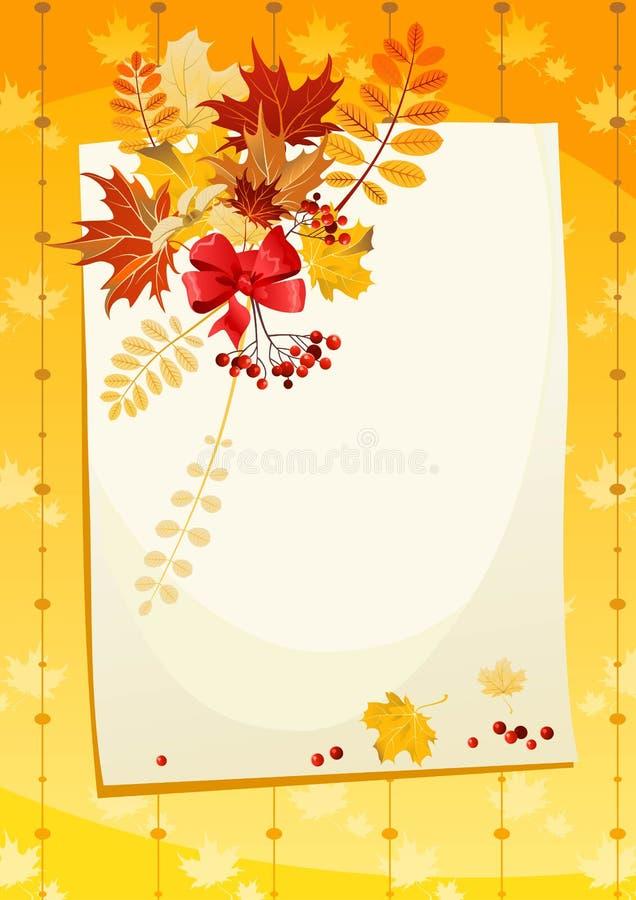Herbstkarte lizenzfreie abbildung
