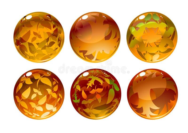 Herbstkugeln vektor abbildung