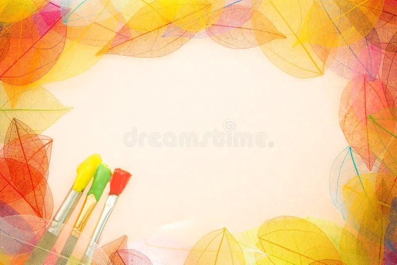 Herbstkunsthintergrund stockfoto