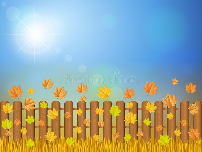 Herbstlandschaft stock abbildung