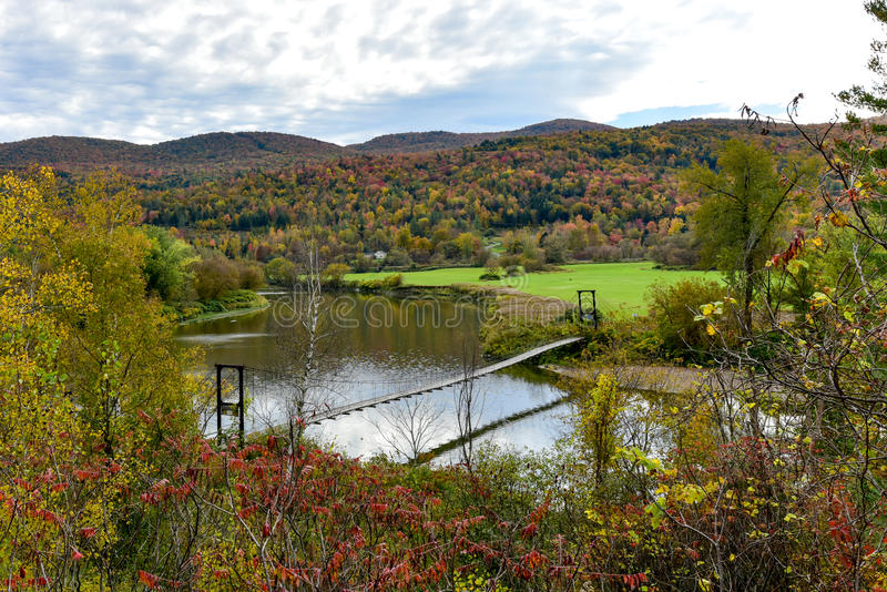 Herbstlaub Vermont stockfoto