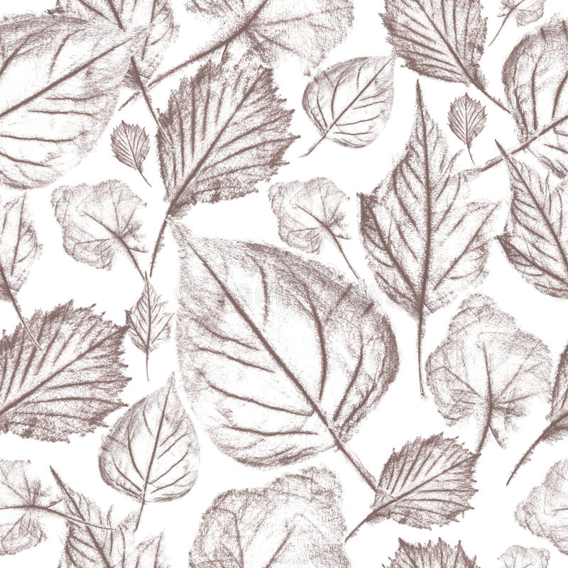 Herbstlaubgraphiken, nahtloses Muster vektor abbildung