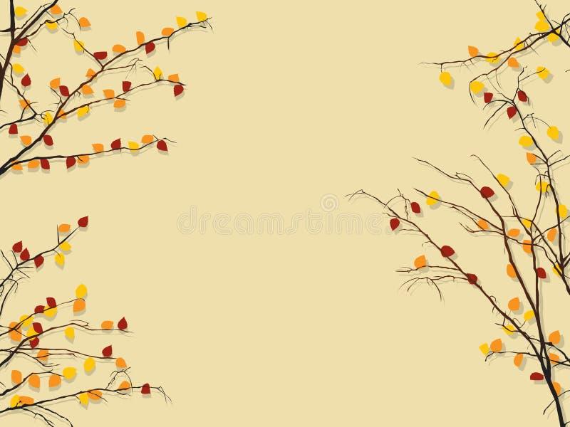 Herbstlaubhintergrund lizenzfreie abbildung