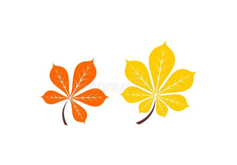 Herbstlaubikone Auch im corel abgehobenen Betrag vektor abbildung