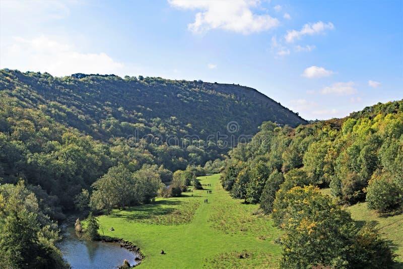 Herbstliche Ansicht vom Monsals-Kopfviadukt, Monsals-Kopf, auf der Monsals-Spur, Derbyshire stockfoto