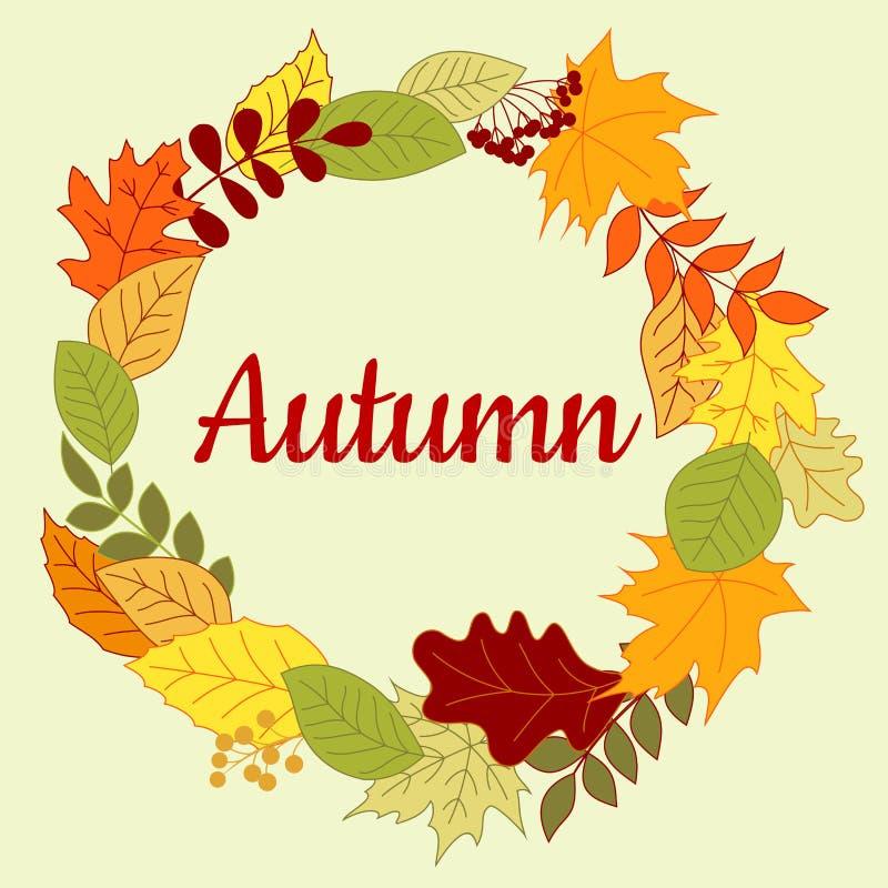 Herbstliche bunte Grenze oder Rahmen lizenzfreie abbildung