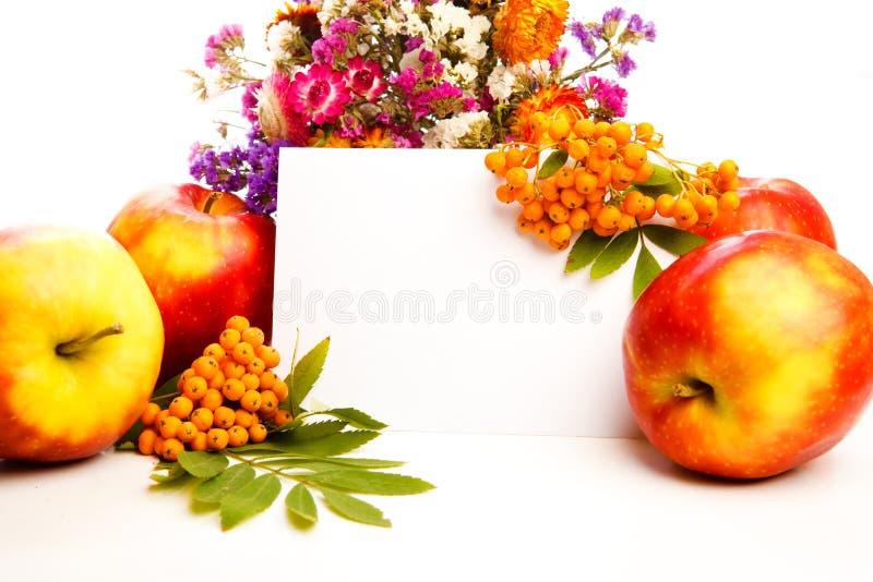 Herbstliche Grußkarte lizenzfreie stockbilder