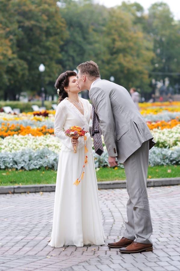 Herbstliche Hochzeit stockfoto