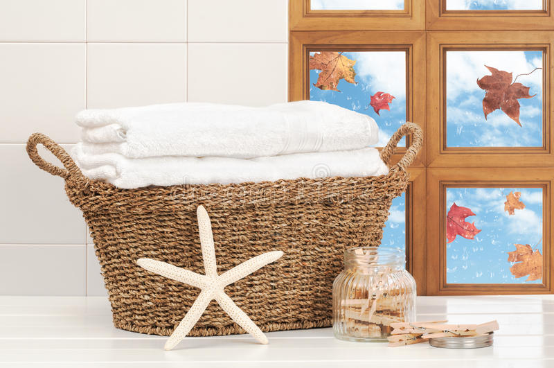 Herbstliche Reinigung lizenzfreies stockfoto