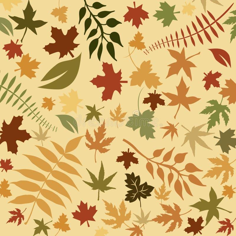 Herbstlicher Blathintergrund lizenzfreie abbildung