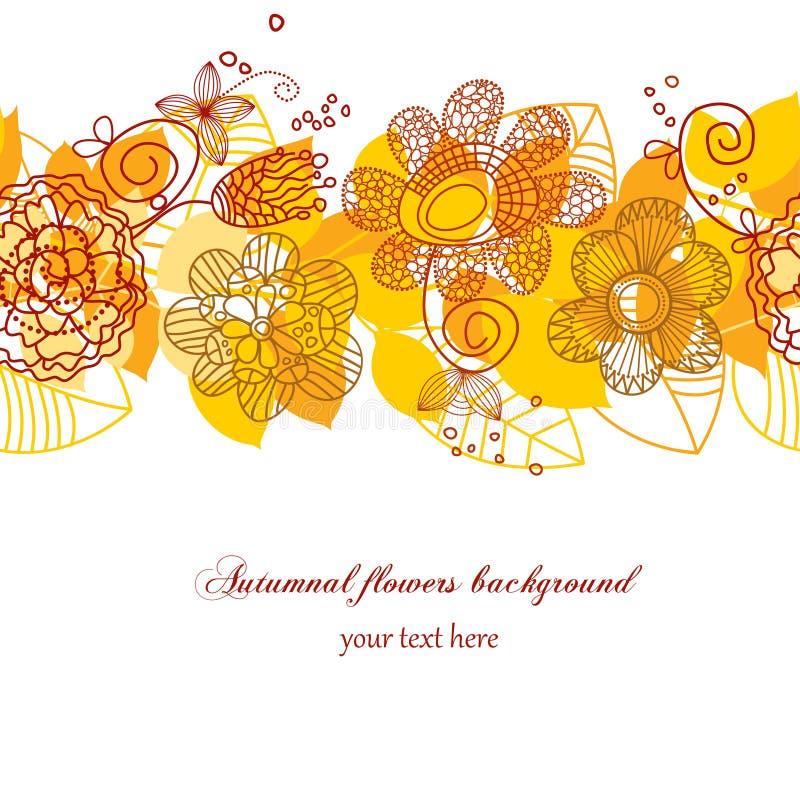 Herbstlicher Blumenhintergrund stock abbildung