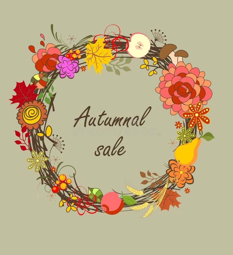 Herbstlicher Verkauf lizenzfreie abbildung