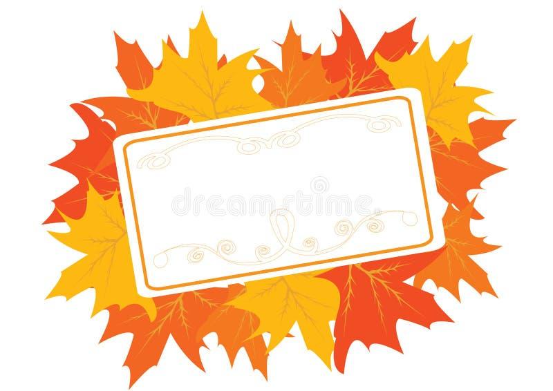 Herbstliches Feld mit Ahornblättern stock abbildung
