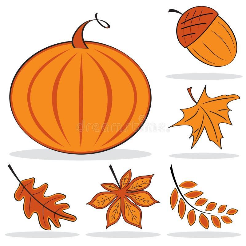 Herbstliches Ikonenset vektor abbildung
