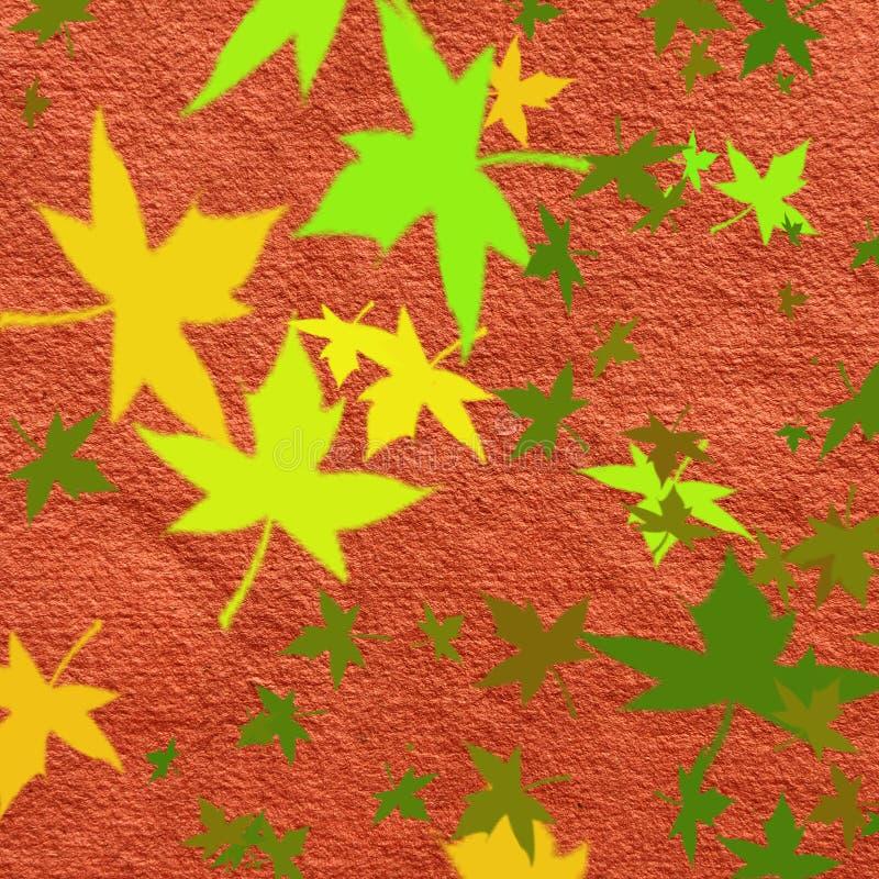 Herbstliches Muster lizenzfreie abbildung