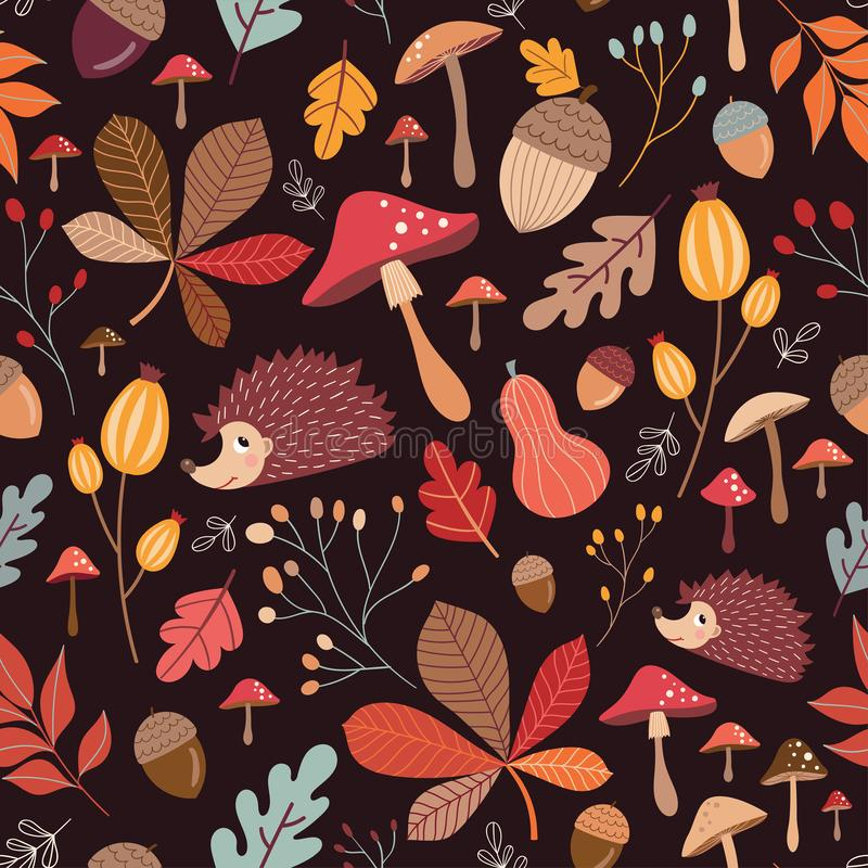 Herbstliches nahtloses Muster lizenzfreie abbildung