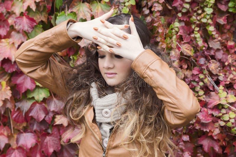 Herbstmärchenporträt lizenzfreies stockfoto