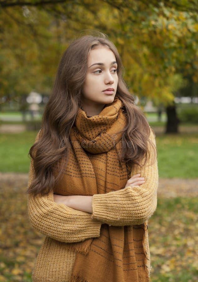 Herbstmodeschönheit lizenzfreie stockbilder
