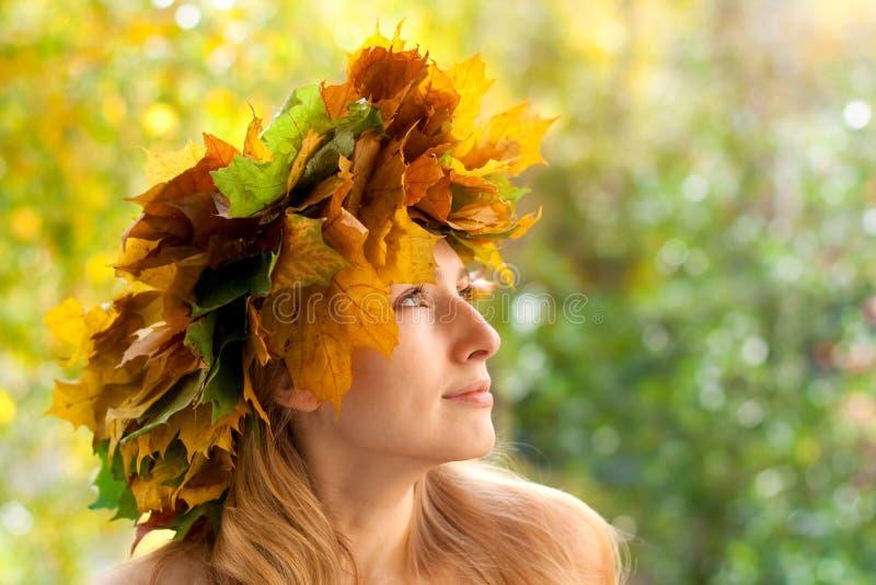 Herbstnymphe lizenzfreie stockfotos