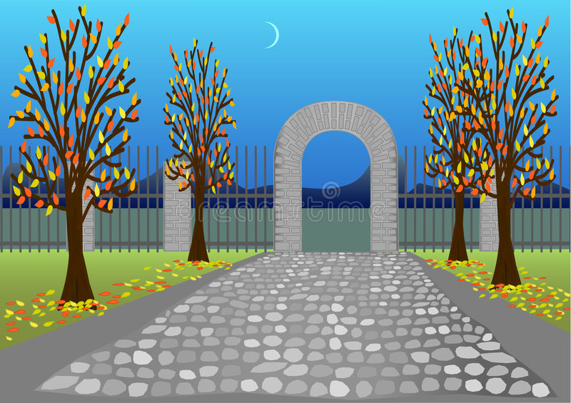 Herbstpark vektor abbildung