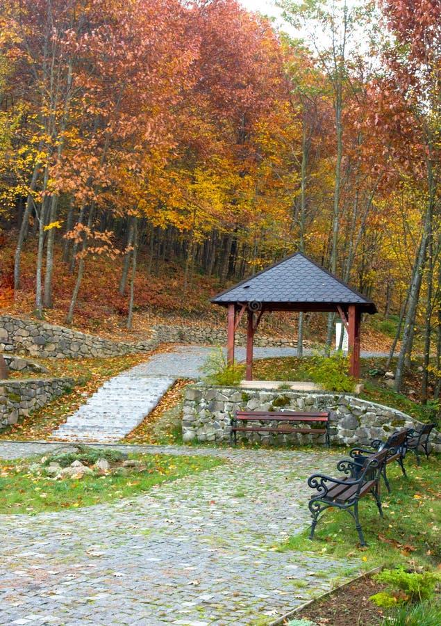 Herbstparklandschaft stockfotografie