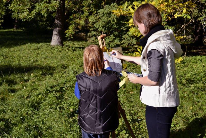 Herbstportrait Stockfotografie