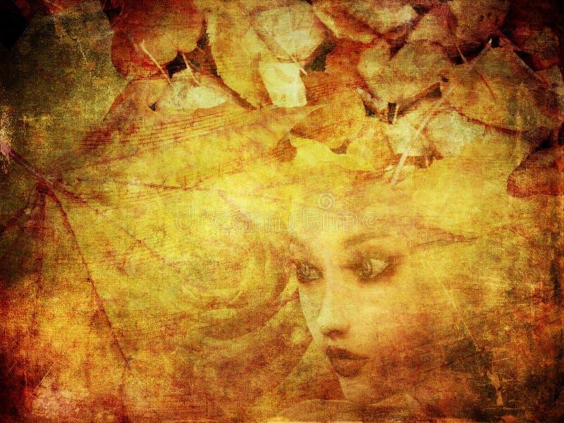 Herbstportrait lizenzfreie abbildung