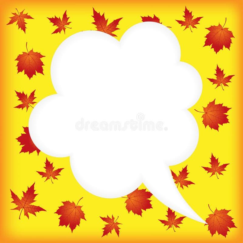 Herbstspracheblasen lizenzfreie abbildung