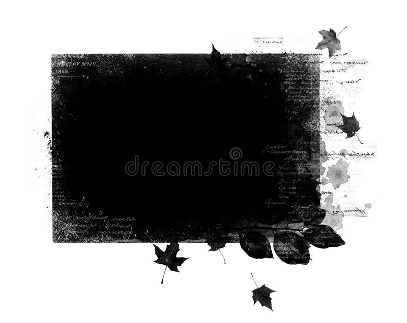 Herbsttestblatt vektor abbildung