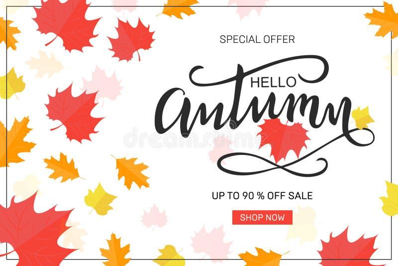 Herbstverkaufs-Hintergrundplan verzieren stock abbildung