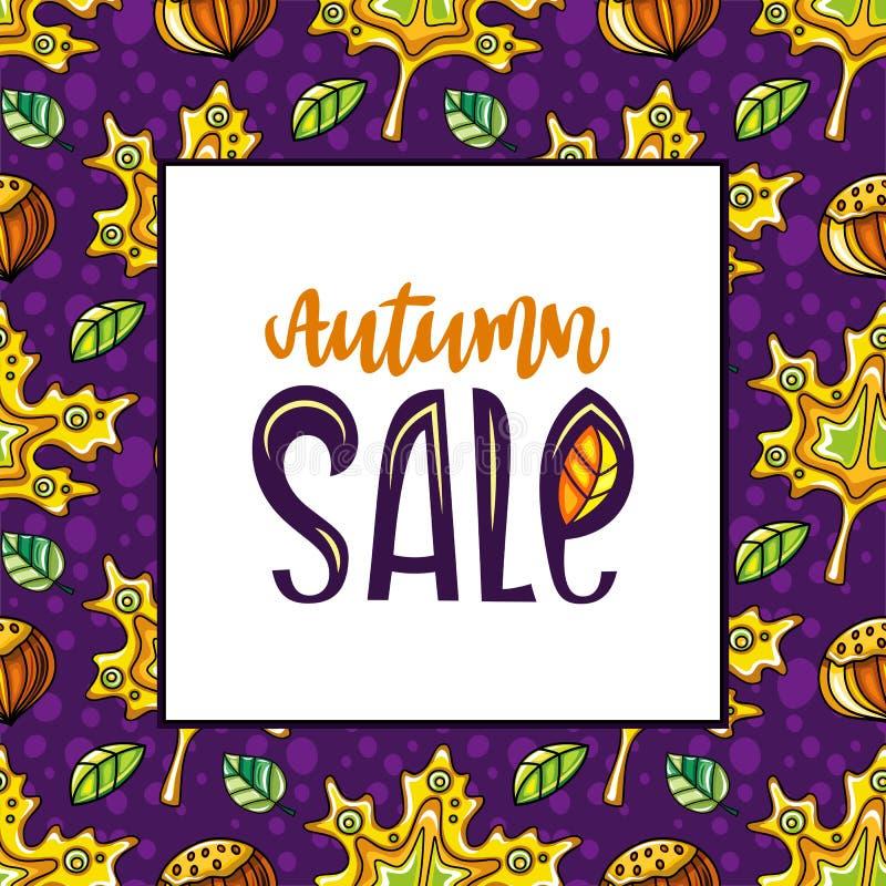 Herbstverkaufs-Reihe lizenzfreie abbildung