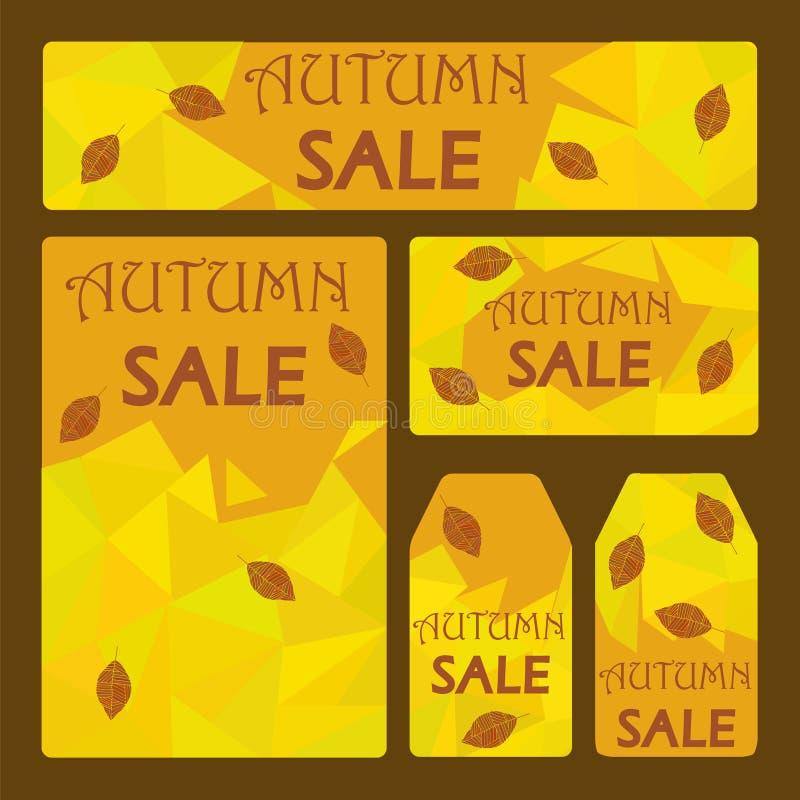 Herbstverkaufsniedrige Polyschablone stock abbildung