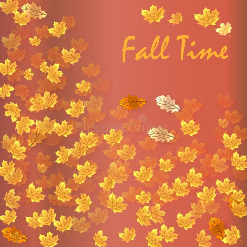 Herbstzeit-Saisonfahne Auch im corel abgehobenen Betrag vektor abbildung