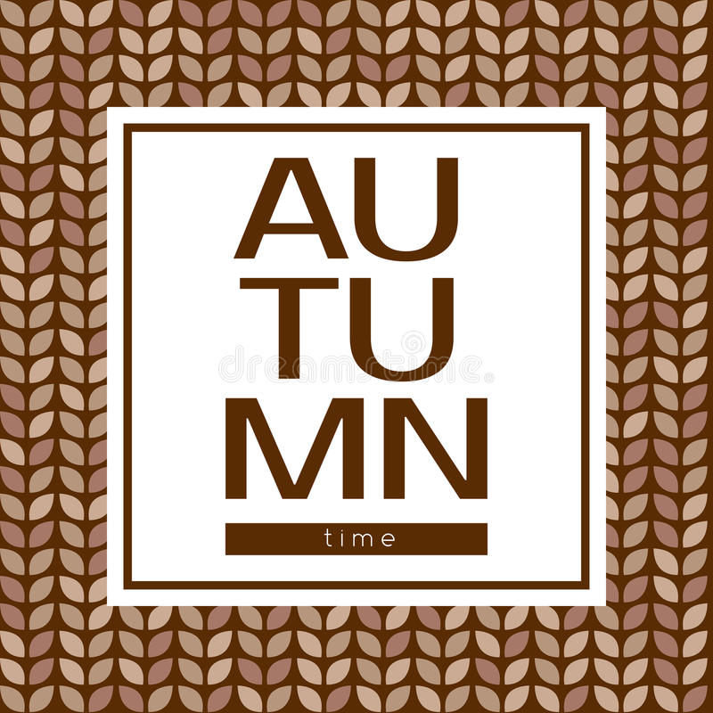 Herbstzeit-Vektorplakat auf einem nahtlosen Hintergrund stock abbildung