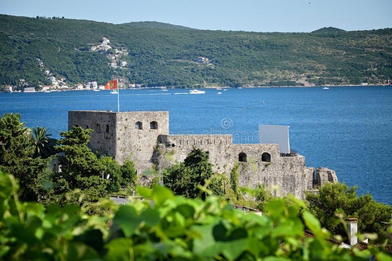 Herceg Novi, égua do forte do castelo, Montenegro fotografia de stock royalty free