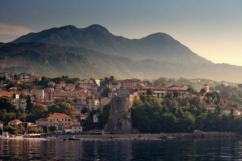 Herceg Novi. Coastal town in Montenegro located at the entrance to the Bay of Kotor stock images