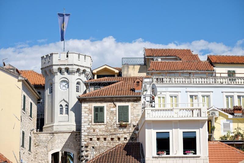 Herceg Novi Clocktower, Montenegro fotografia de stock royalty free