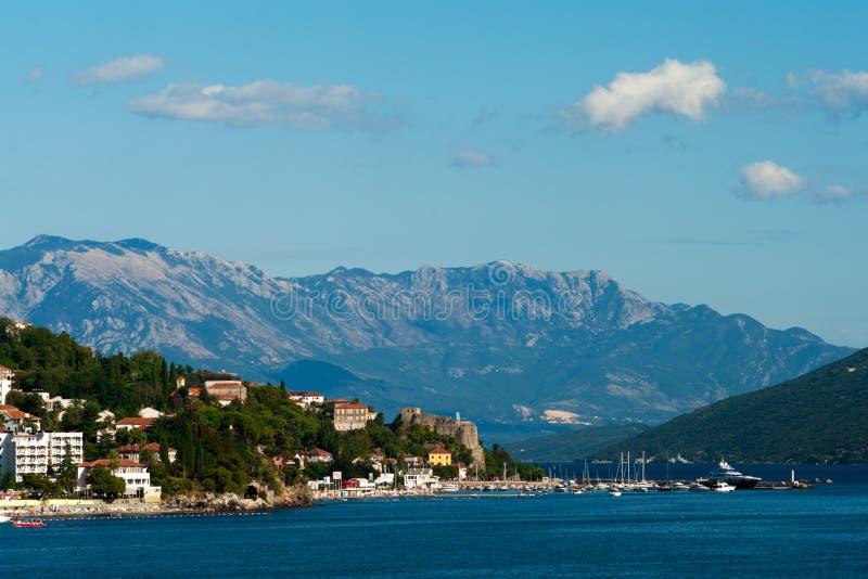 Herceg Novi - Montenegro. The coastal town of Herceg Novi in Montenegro stock images