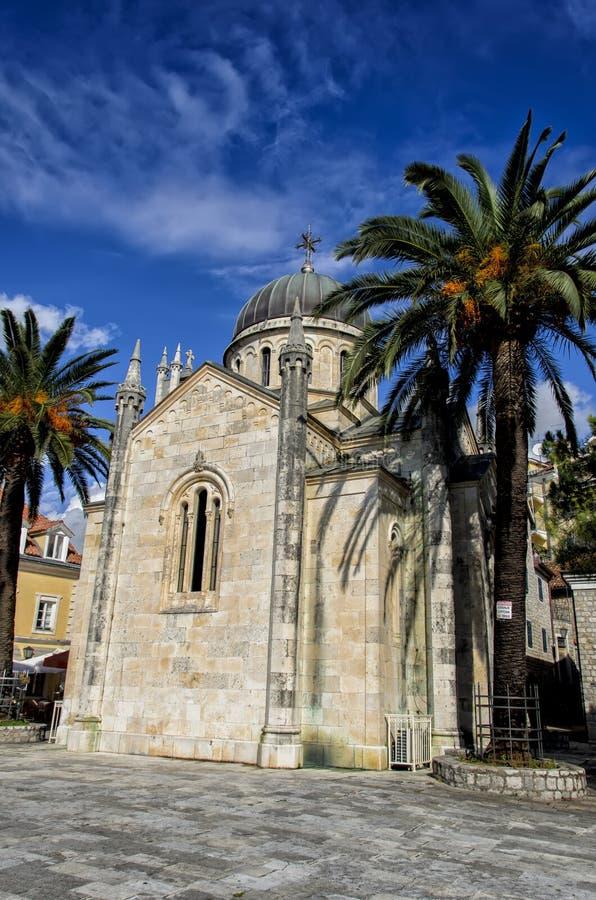 Herceg Novi, Montenegro. Church at Herceg Novi, Montenegro stock image