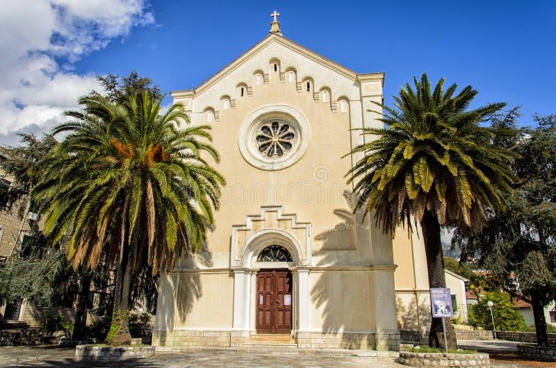 Herceg Novi, Montenegro. St. Jerome church in Herceg Novi, Montenegro royalty free stock image