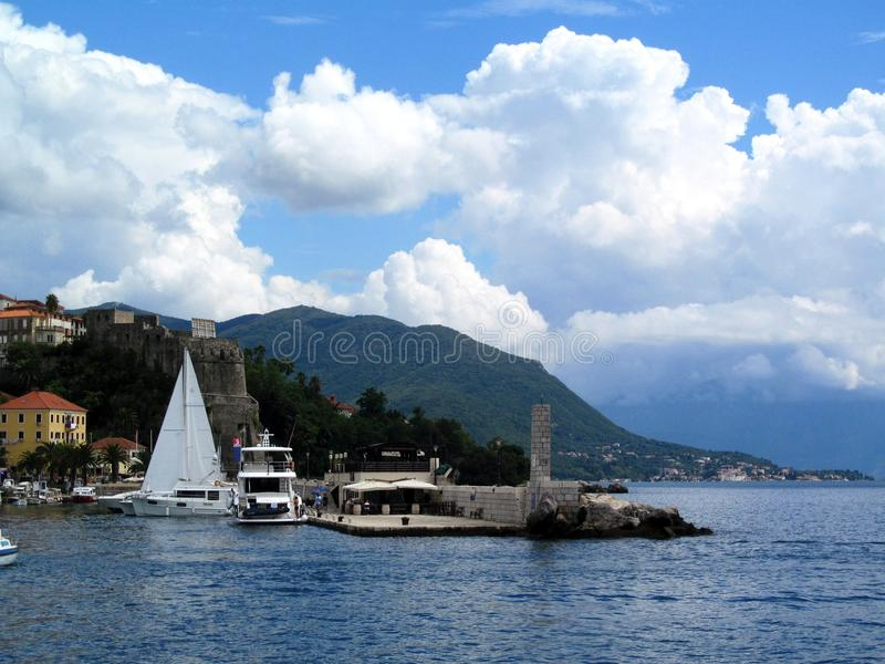 Herceg-Novi, Montenegro imagem de stock